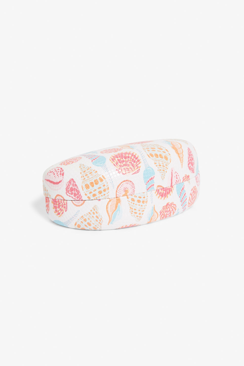 Front image of Monki sunglass case in white