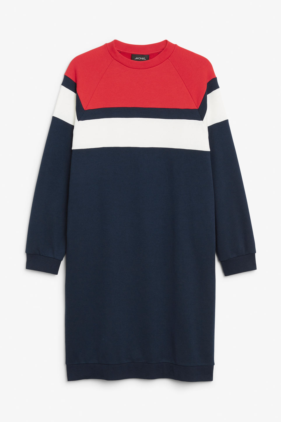 Front image of Monki sweater dress in blue