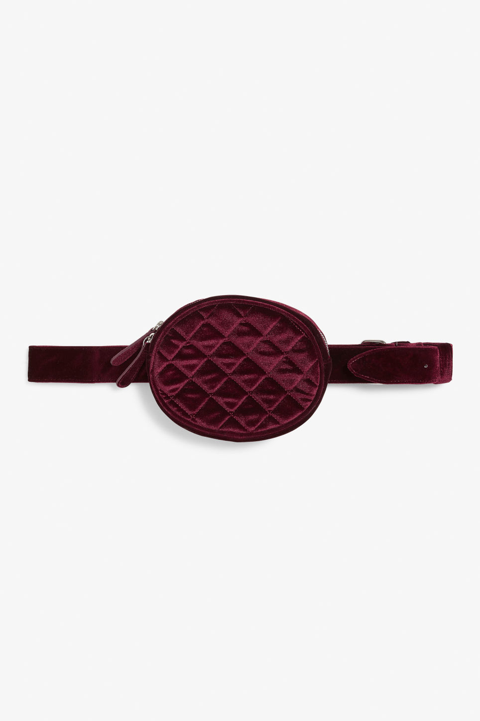 Front image of Monki sleek fanny pack in red
