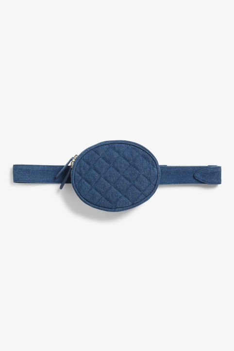 Quilted blue fanny pack