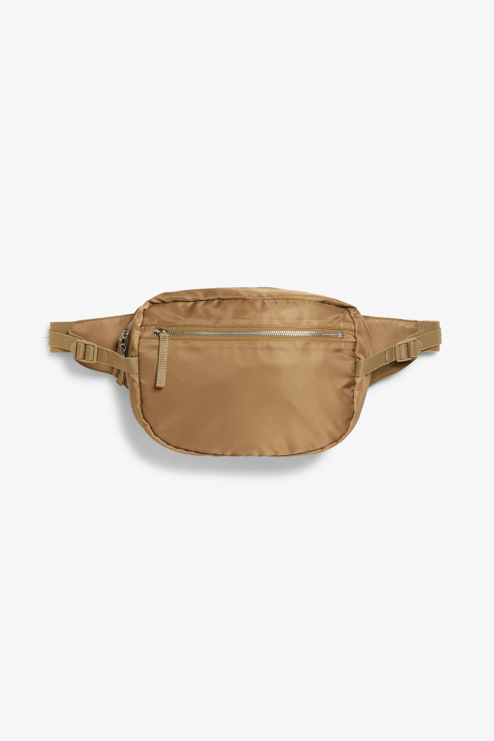 Front image of Monki sleek fanny pack in beige
