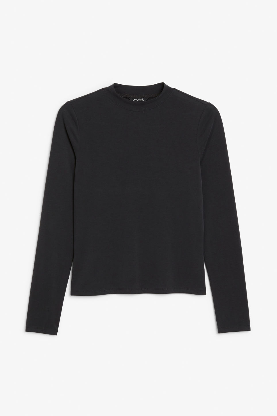 Front image of Monki super soft modal top  in black