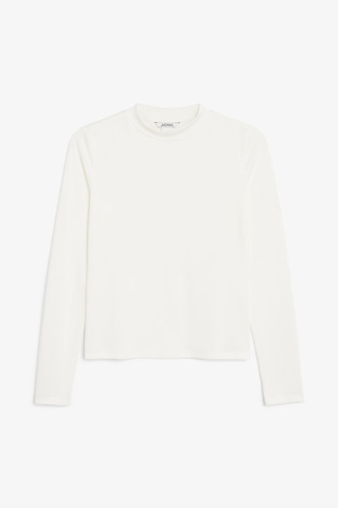 Front image of Monki super soft modal top  in white