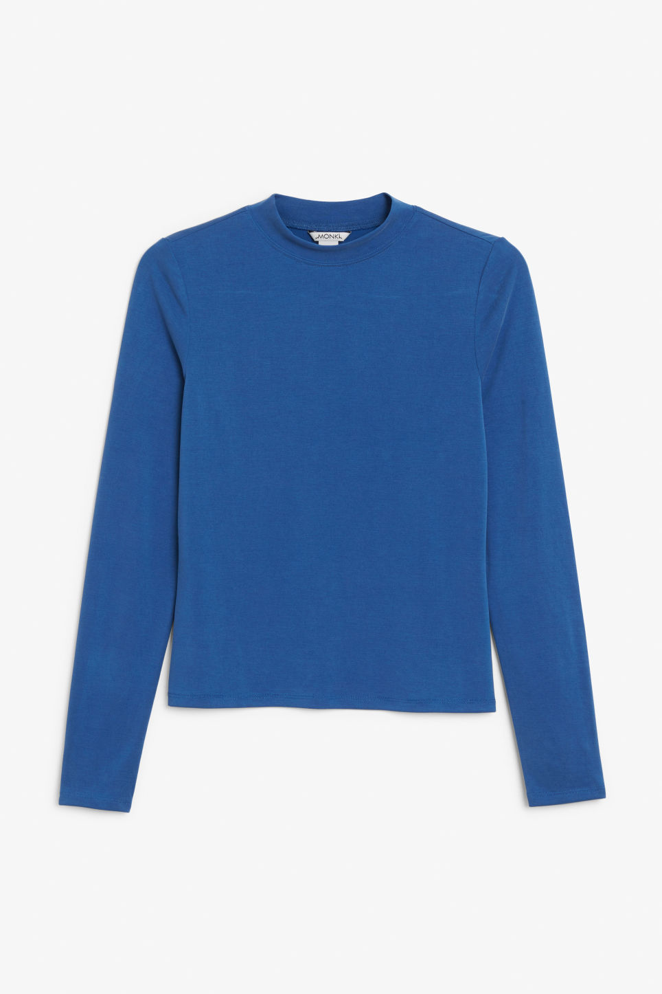 Front image of Monki super soft modal top  in blue