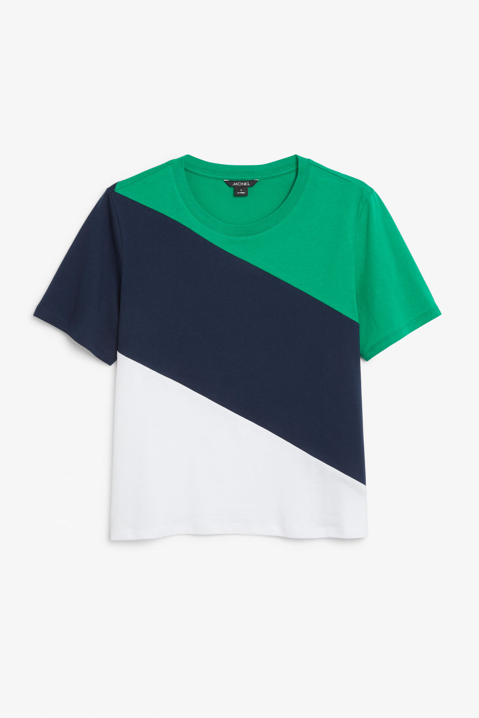 Front image of Monki soft tee in blue