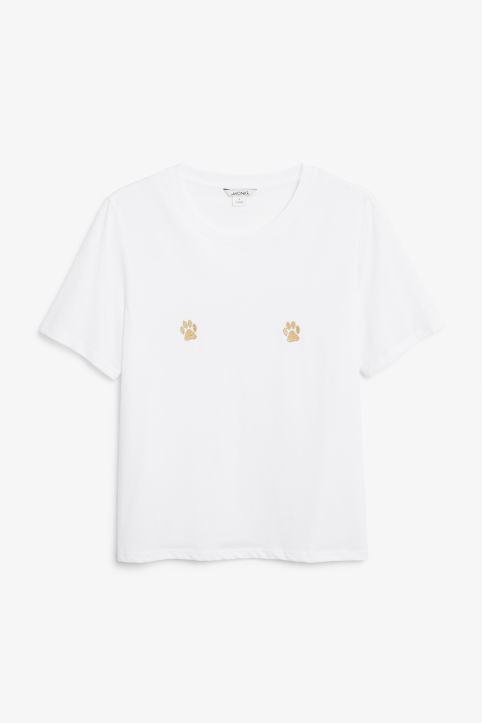 Front image of Monki soft tee in white