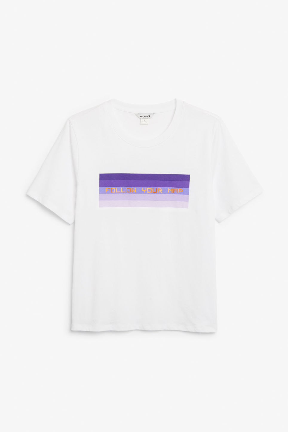 Front image of Monki soft cotton tee in white