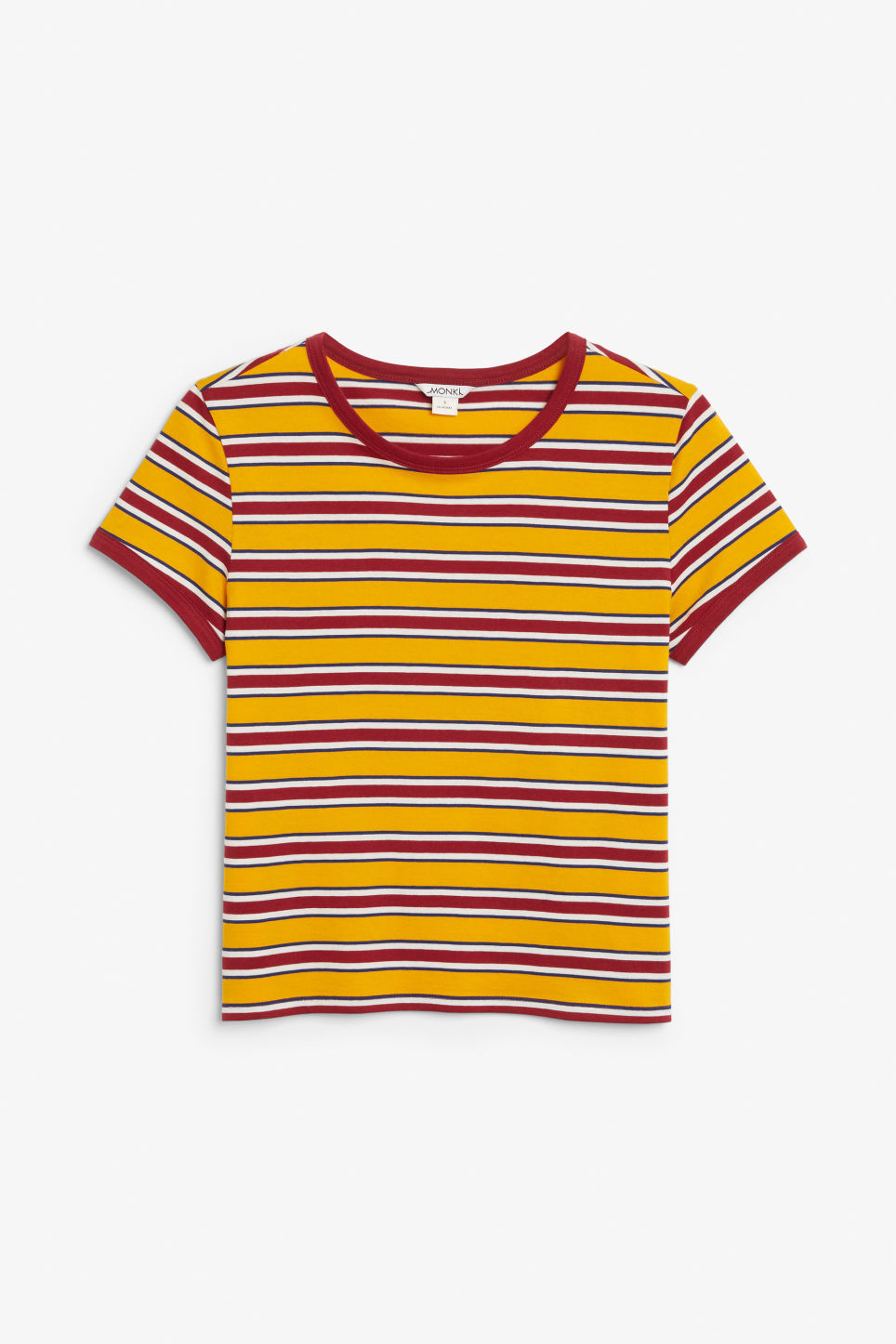 Front image of Monki statement tee in yellow
