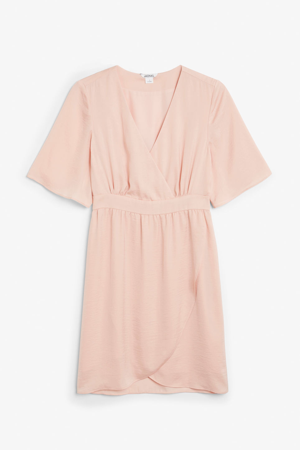 Front image of Monki silky dress in orange