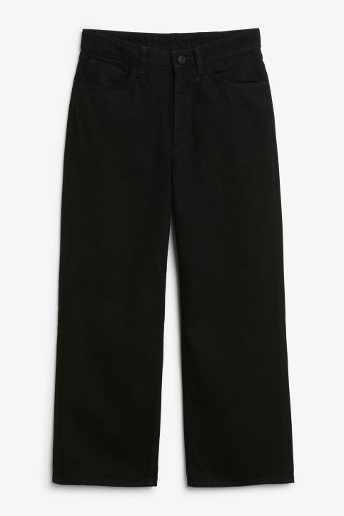 Front image of Monki mozik jeans in black