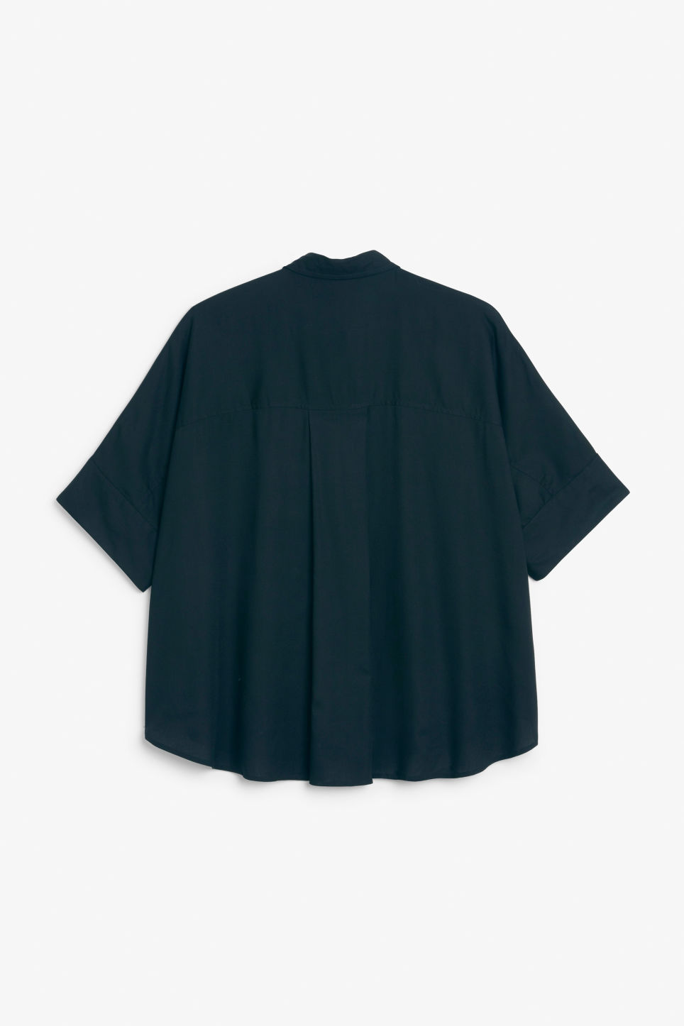 Back image of Monki oversized boxy shirt in blue