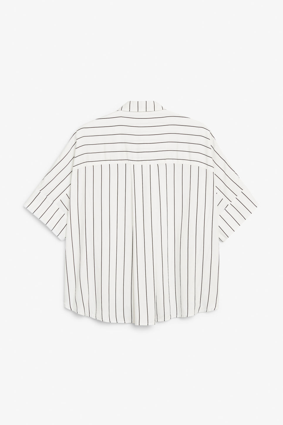 Back image of Monki oversized boxy shirt in white