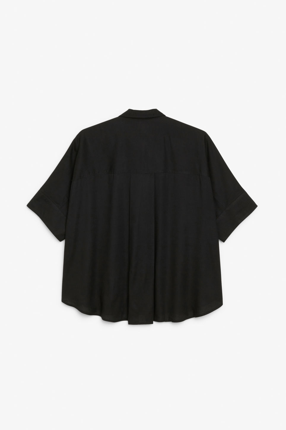 Back image of Monki oversized boxy shirt in black