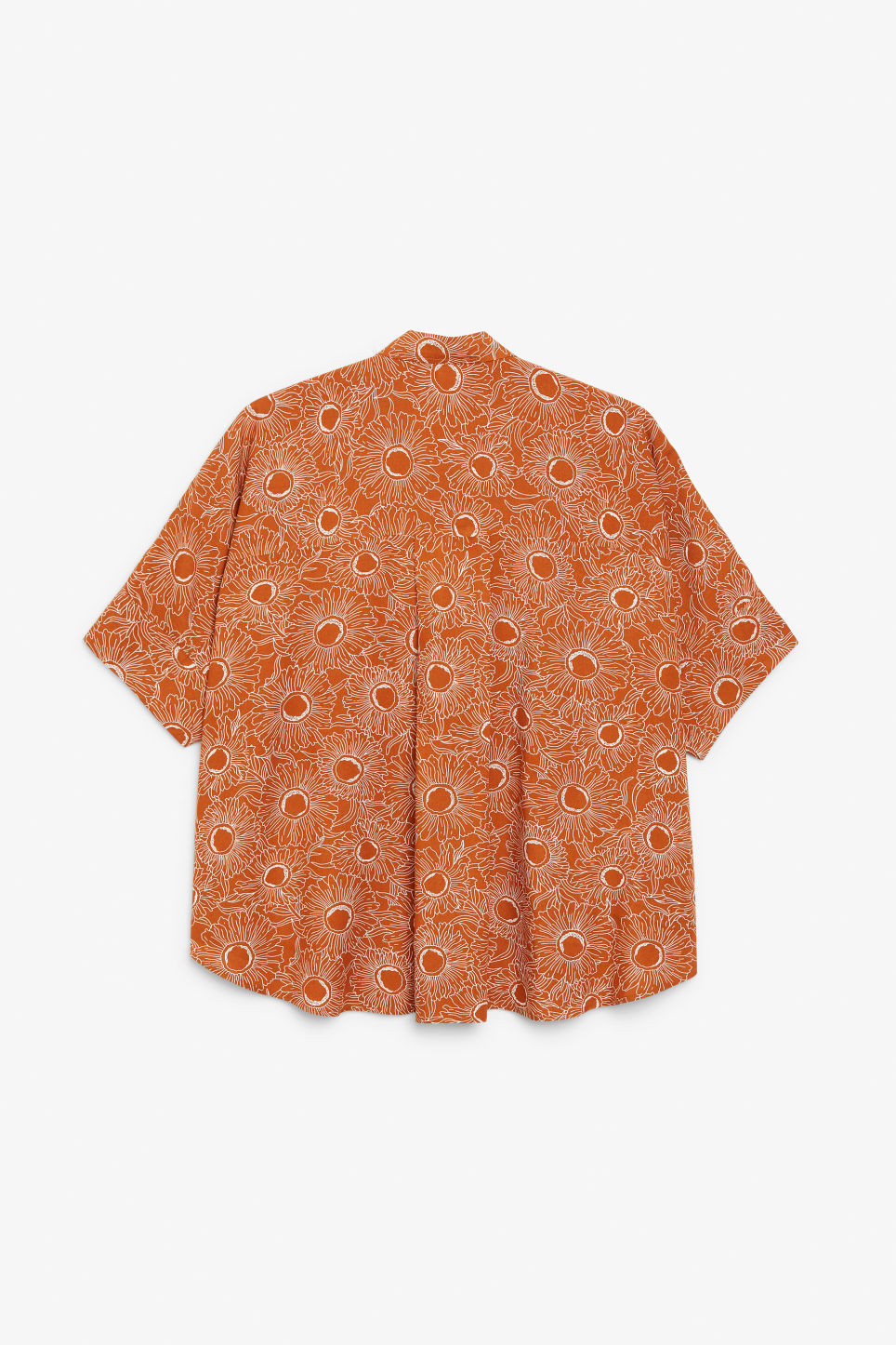 Back image of Monki oversized boxy shirt in orange