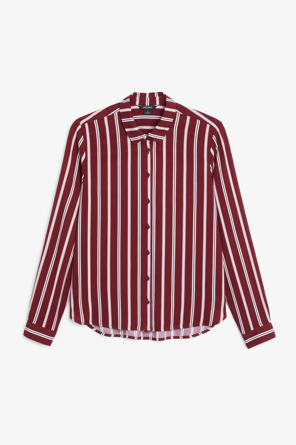 Front image of Monki classic button-up shirt  in red