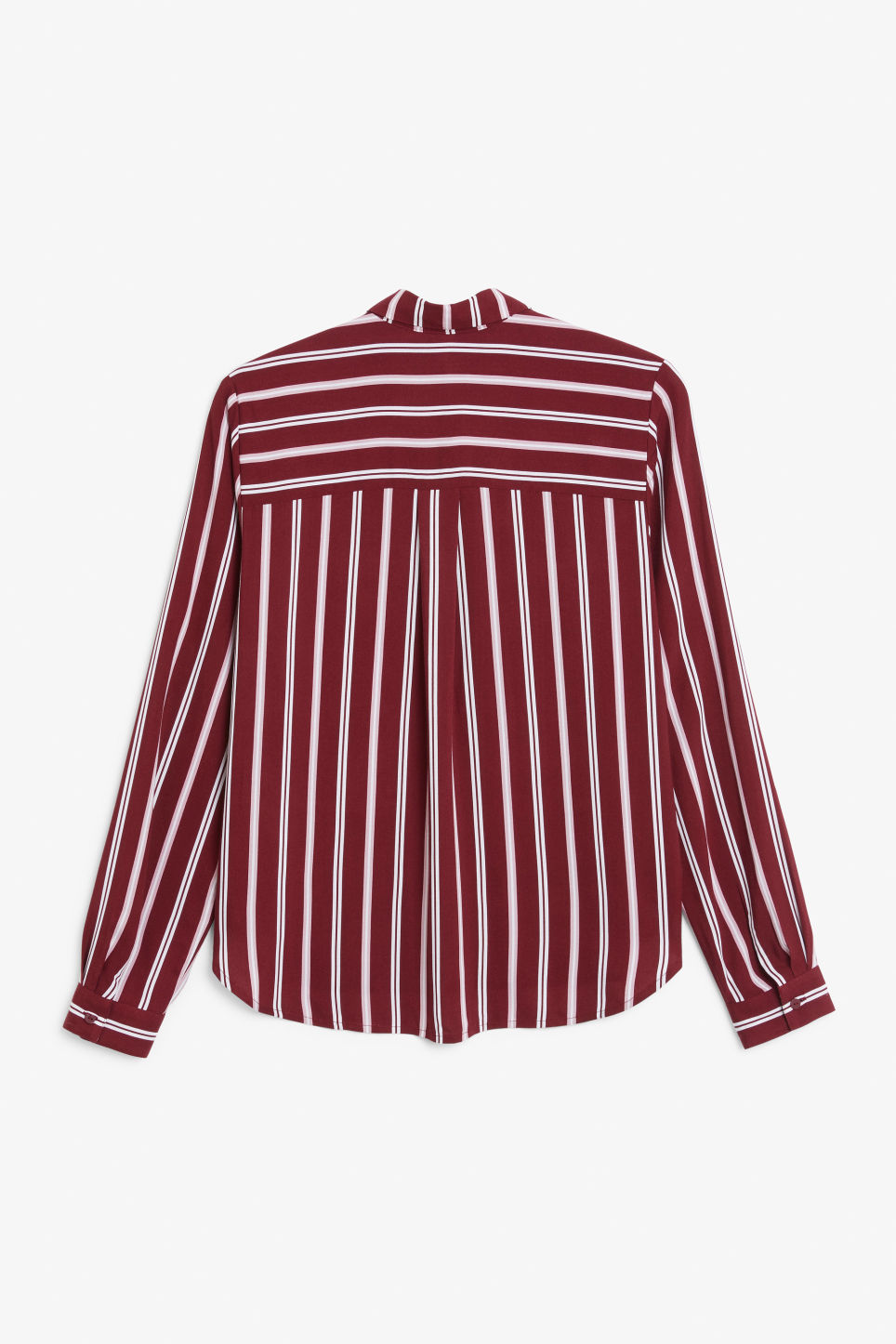 Back image of Monki classic button-up shirt  in red