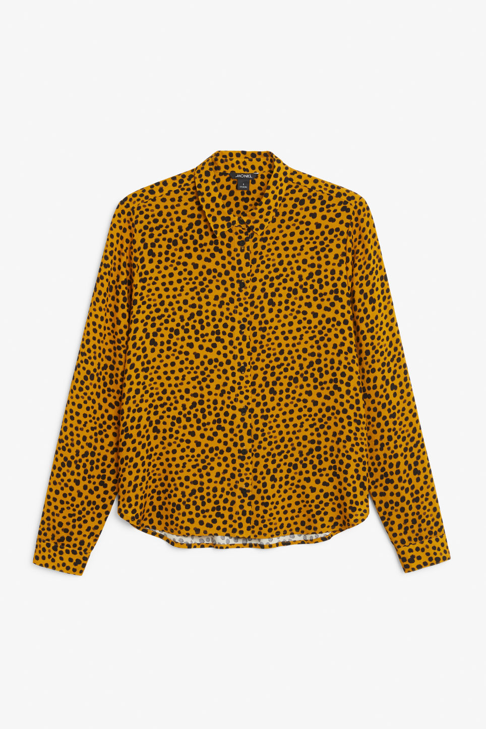 Front image of Monki classic button-up shirt  in yellow
