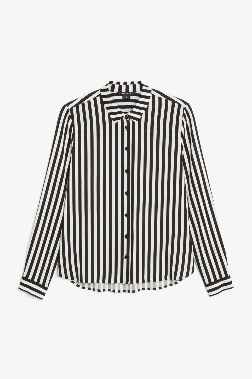Front image of Monki classic button-up shirt  in black