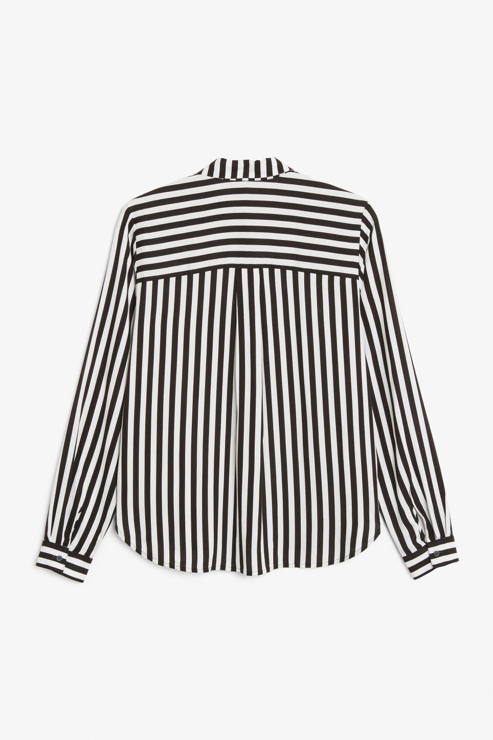 Back image of Monki classic button-up shirt  in black