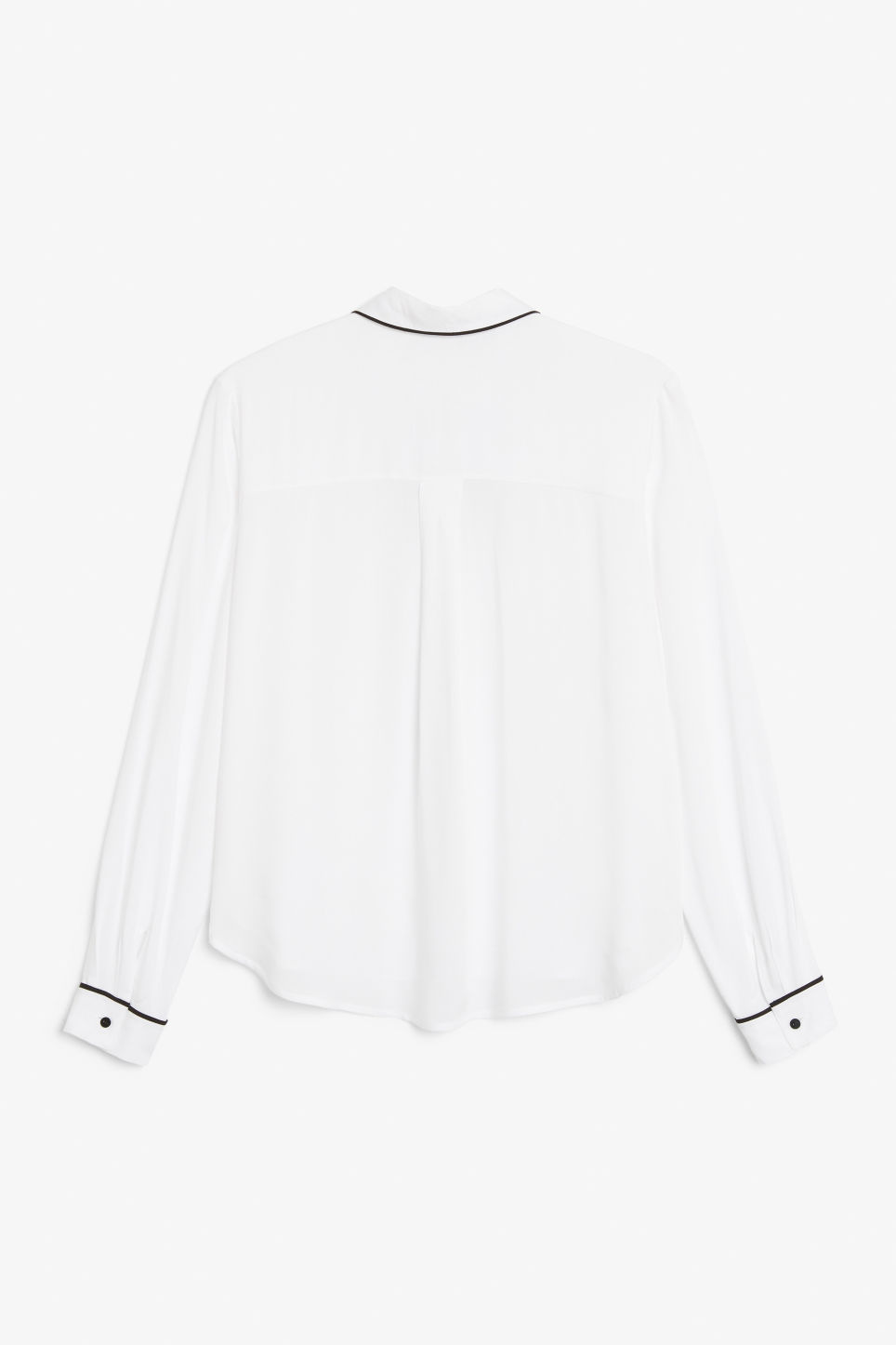 Back image of Monki classic button-up shirt  in white