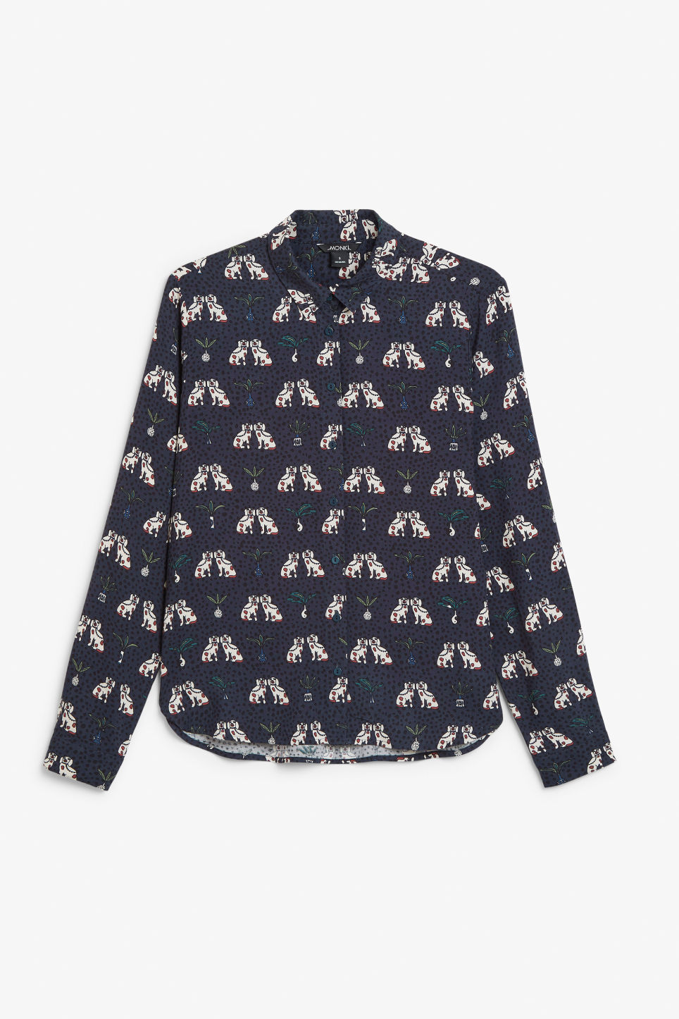 Front image of Monki classic button-up shirt  in blue