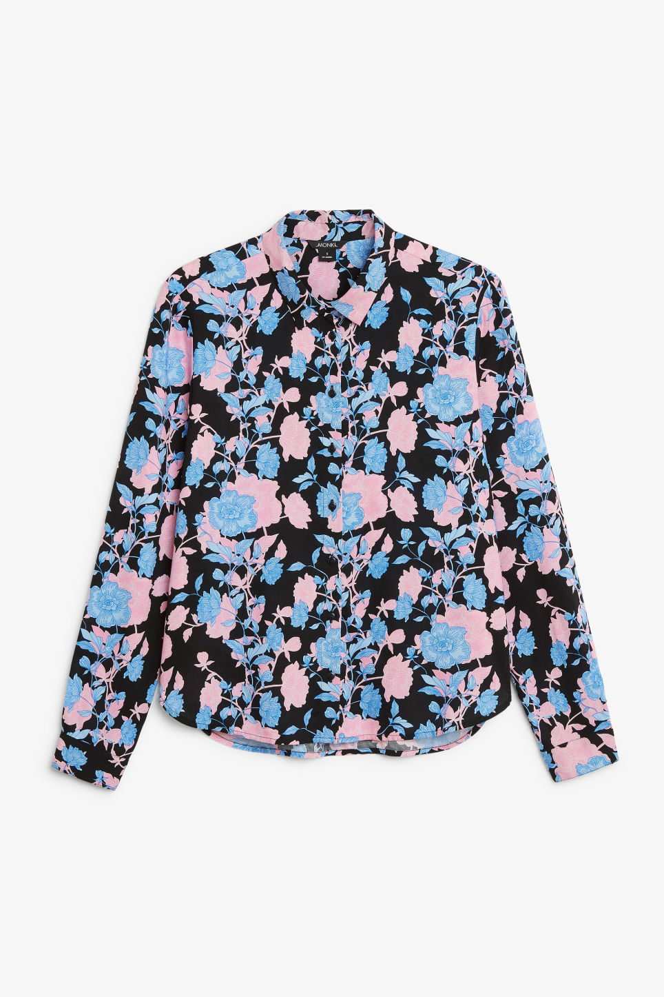 Front image of Monki classic button-up shirt  in pink