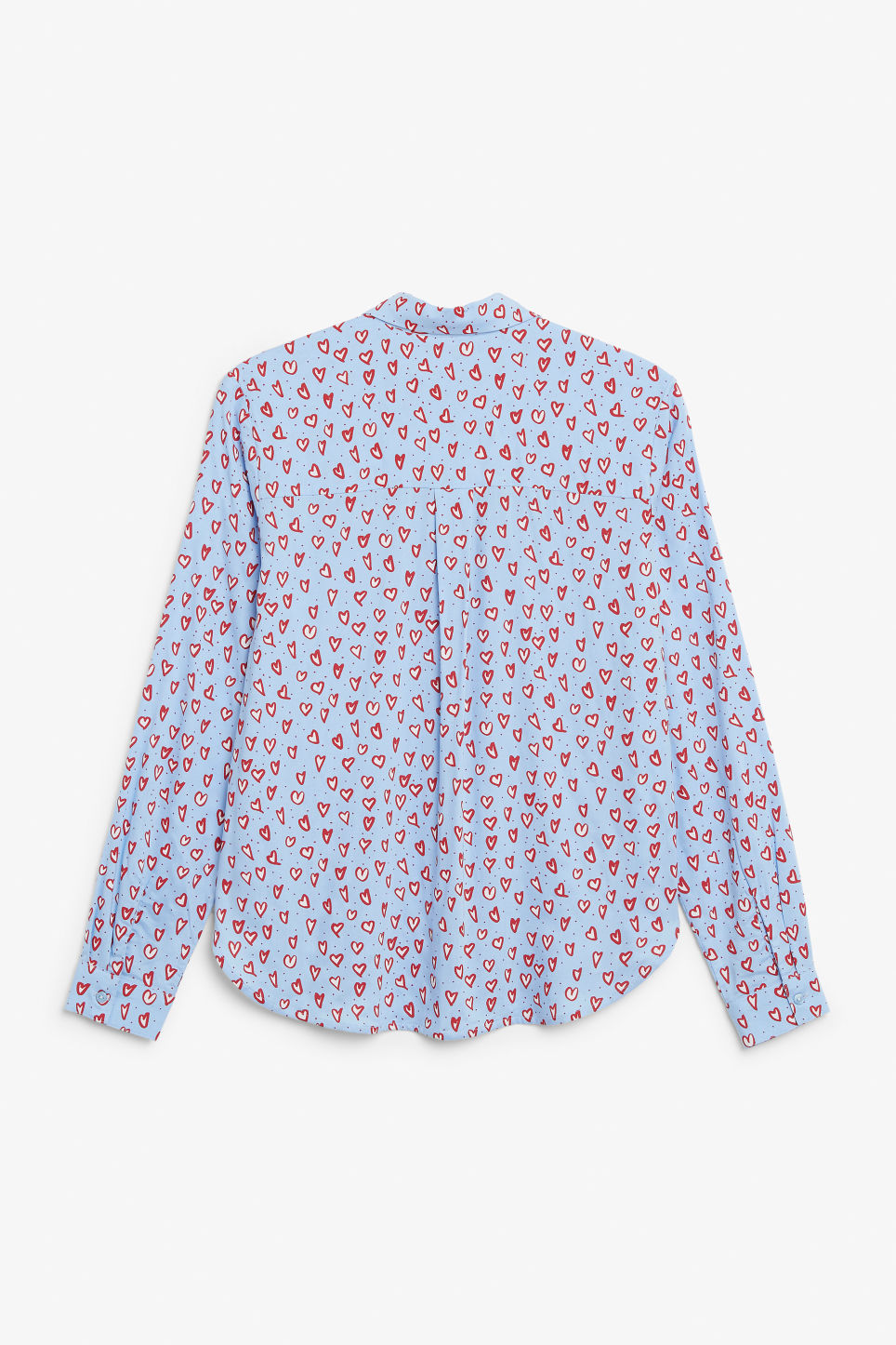 Back image of Monki classic button-up shirt  in blue