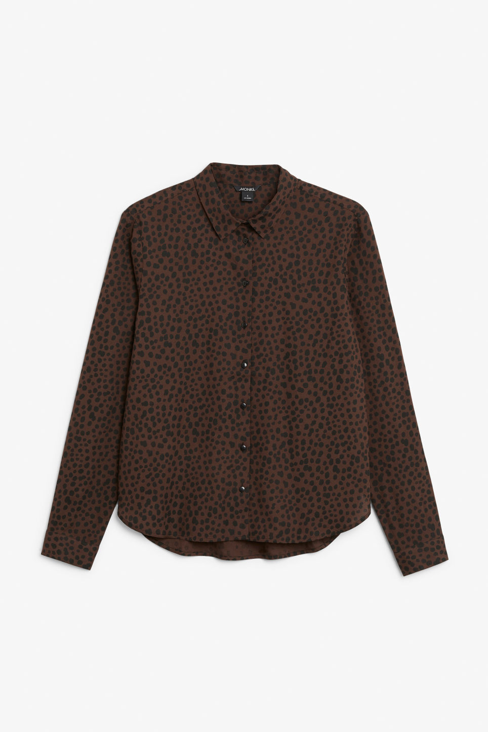 Front image of Monki classic button-up shirt  in beige