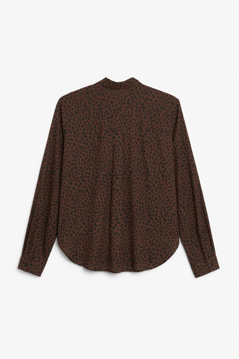 Back image of Monki classic button-up shirt  in beige