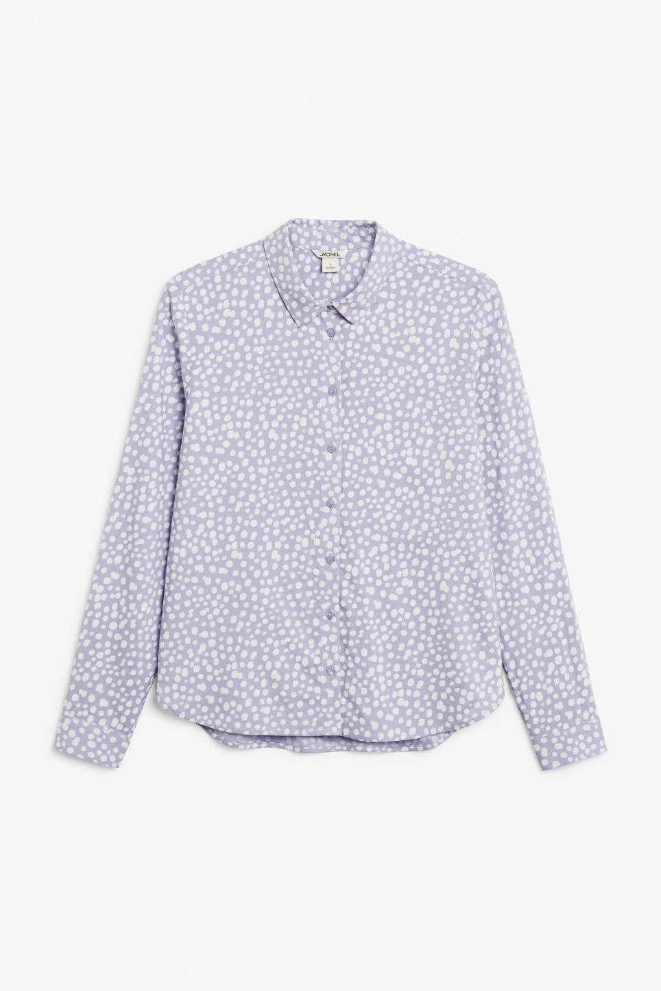 Front image of Monki classic button-up shirt  in purple