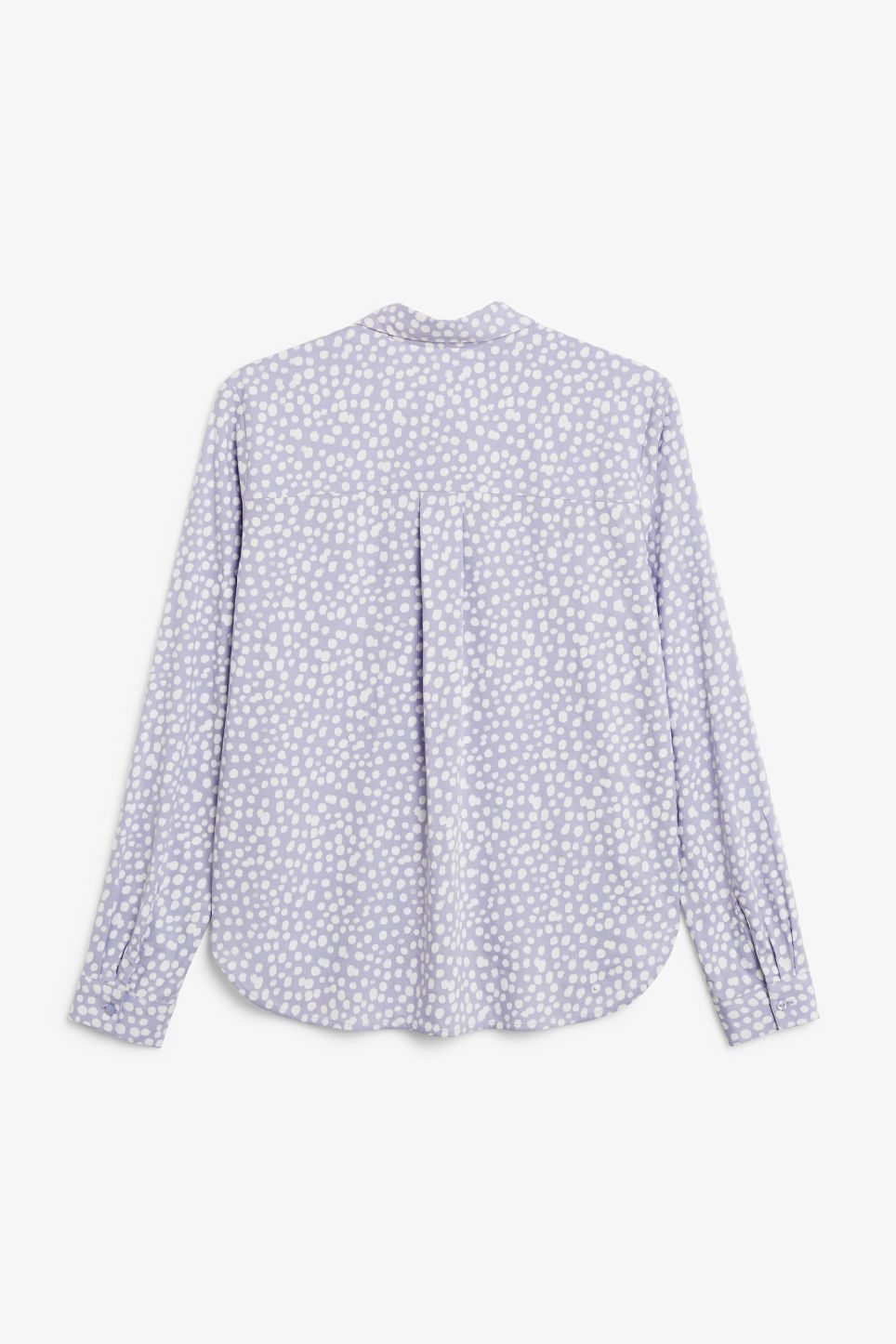 Back image of Monki classic button-up shirt  in purple