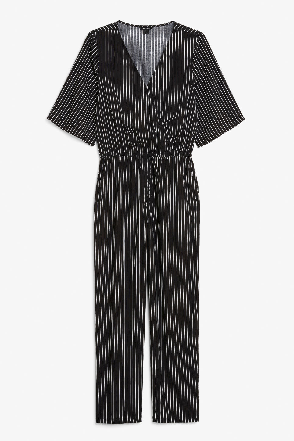 Front image of Monki lightweight jumpsuit  in black
