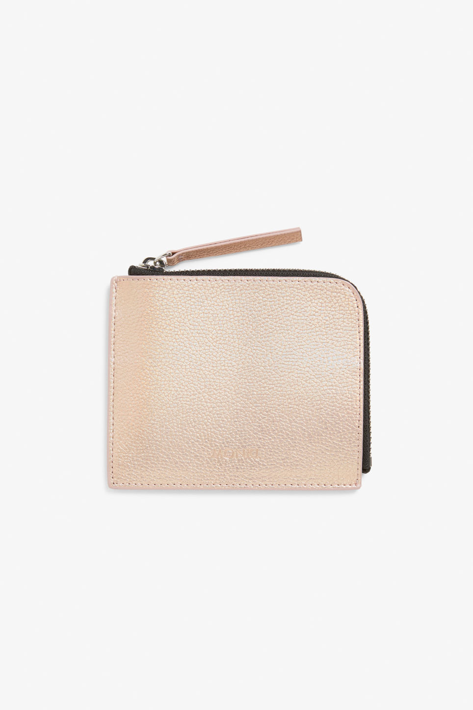 Front image of Monki card case in brown