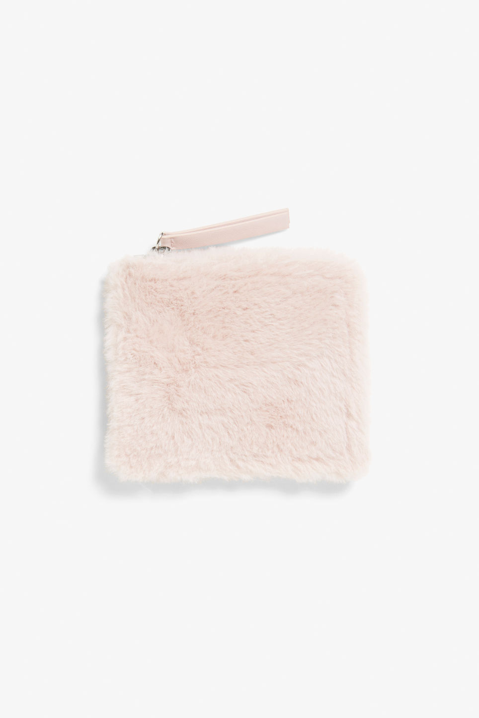 Front image of Monki card case in pink