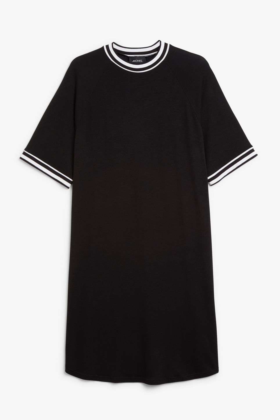 Front image of Monki sporty t-shirt dress in black