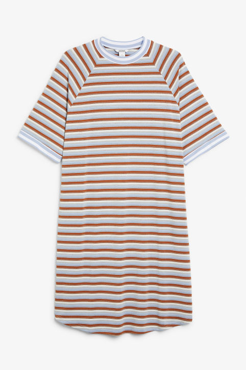 Front image of Monki sporty t-shirt dress in blue