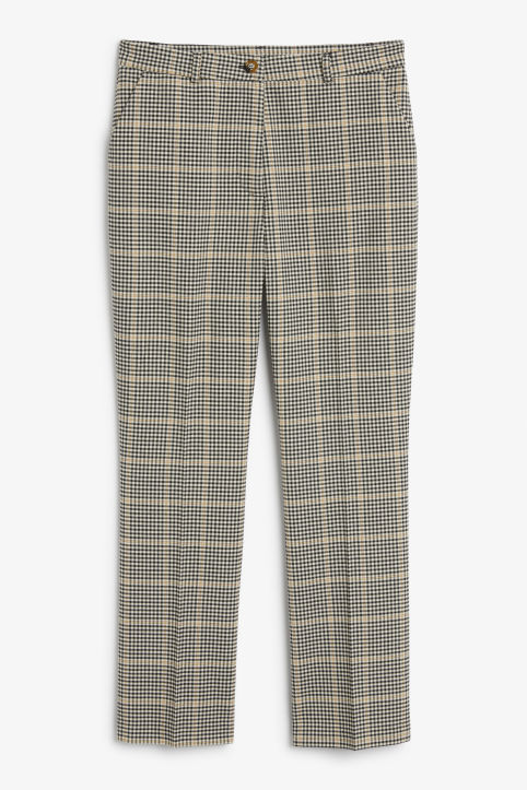 Front image of Monki soft dressy trousers in beige