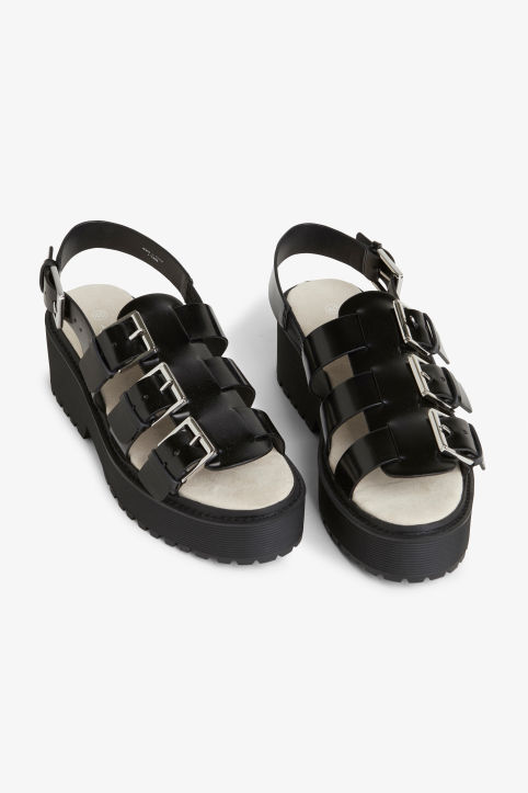 Platform slingback sandals Black magic Shoes Monki
