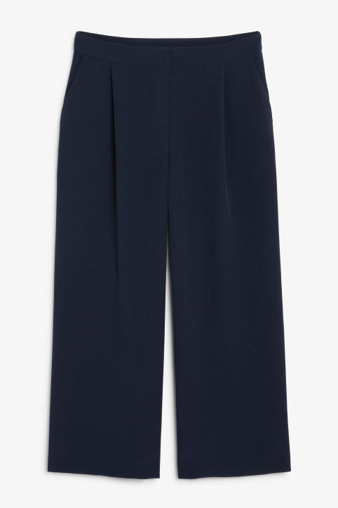 Front image of Monki classic culottes in blue