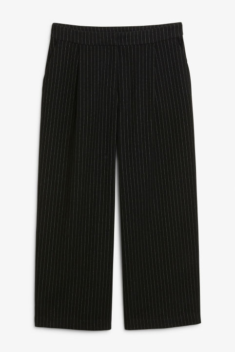 Front image of Monki classic culottes in black