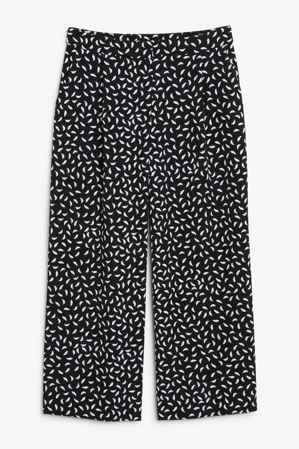 Front image of Monki classic culottes in white