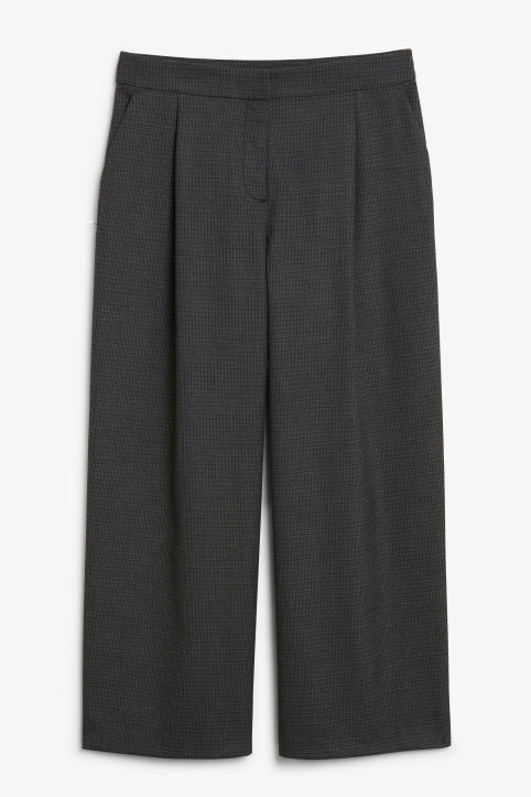 Front image of Monki classic culottes in grey