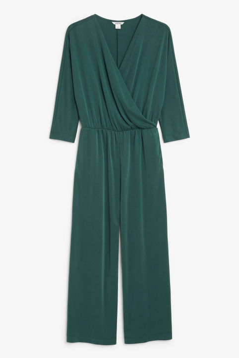 Super-soft wrap jumpsuit