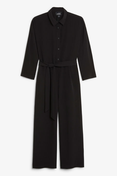 Shirt collar jumpsuit