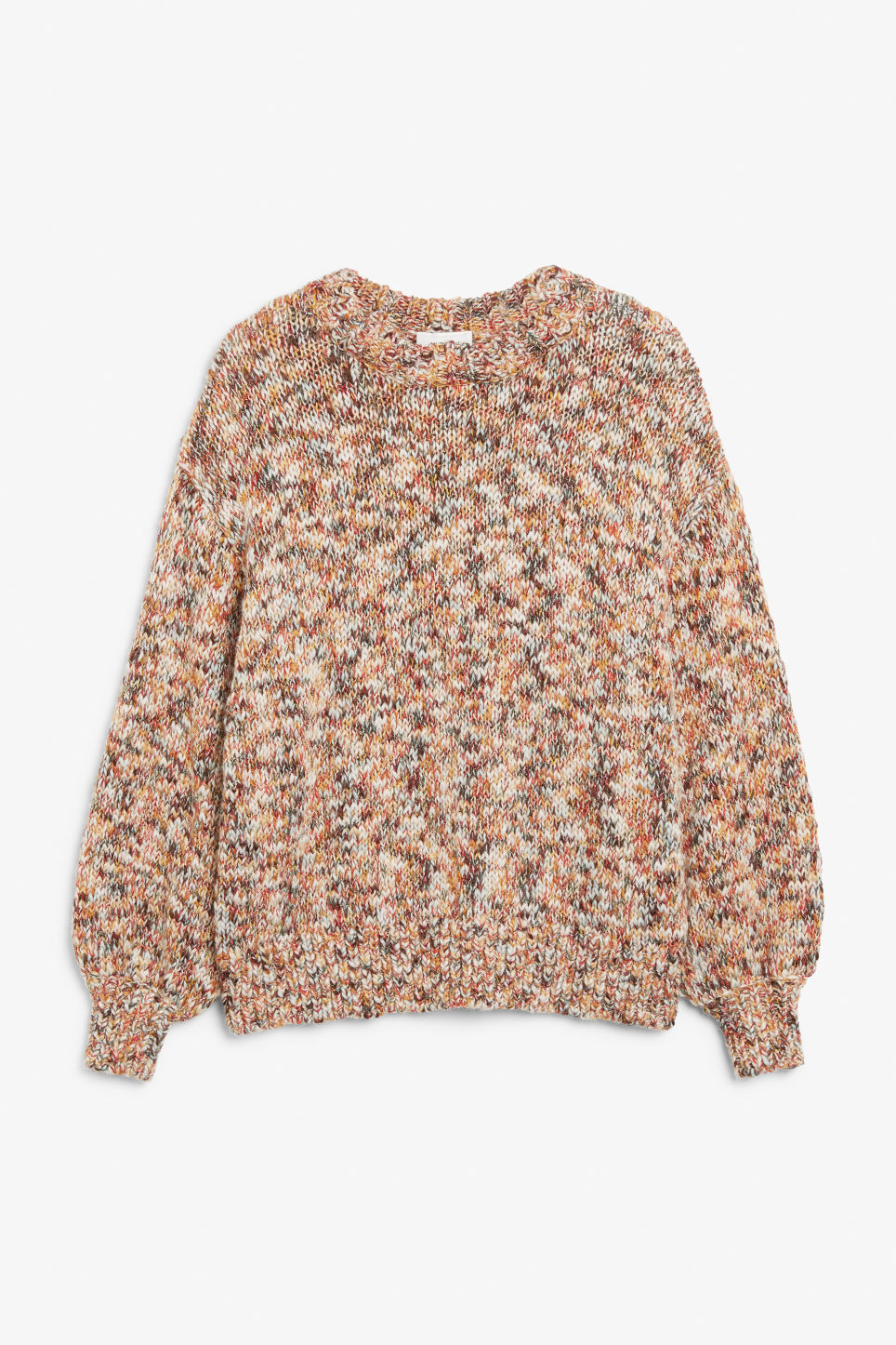 Front image of Monki chunky knit sweater in yellow