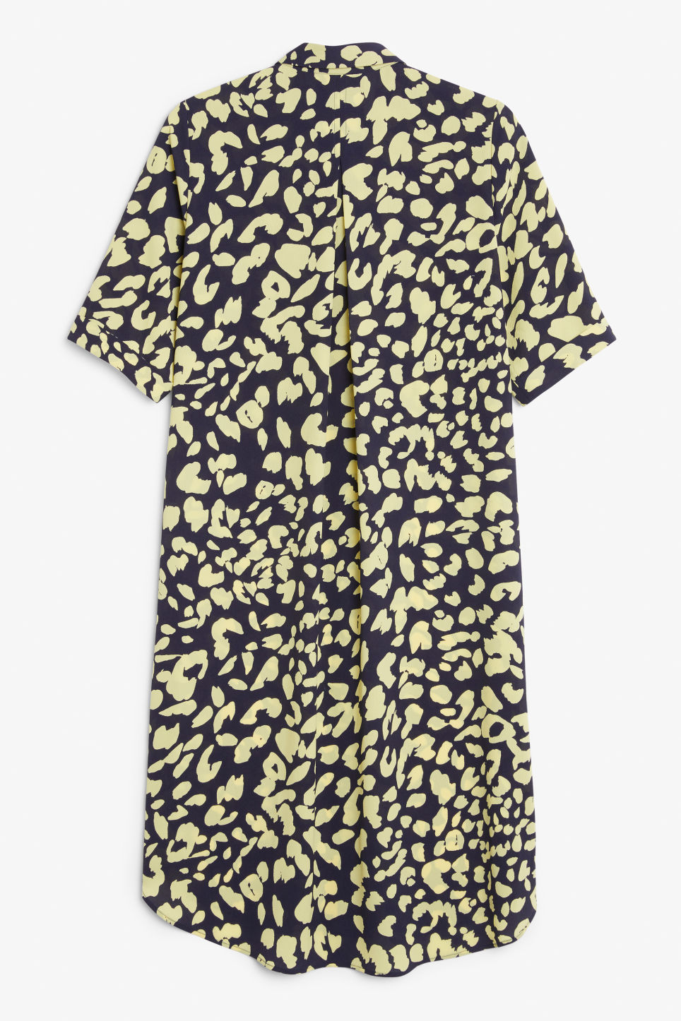 Back image of Monki button-up shirt dress in blue