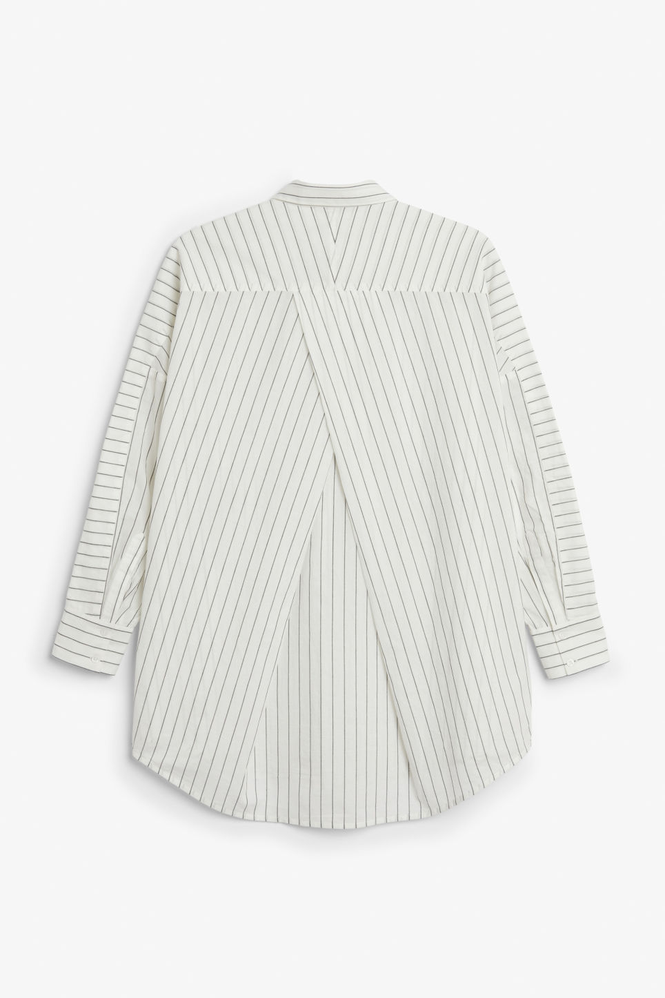 Back image of Monki oversized blouse in white