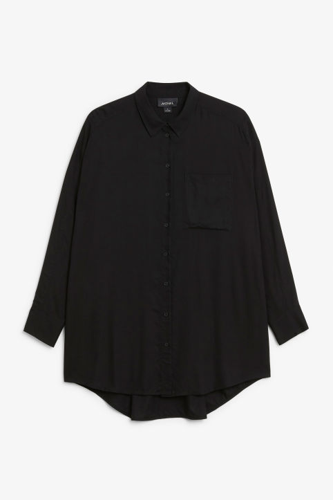 Oversized button-up blouse