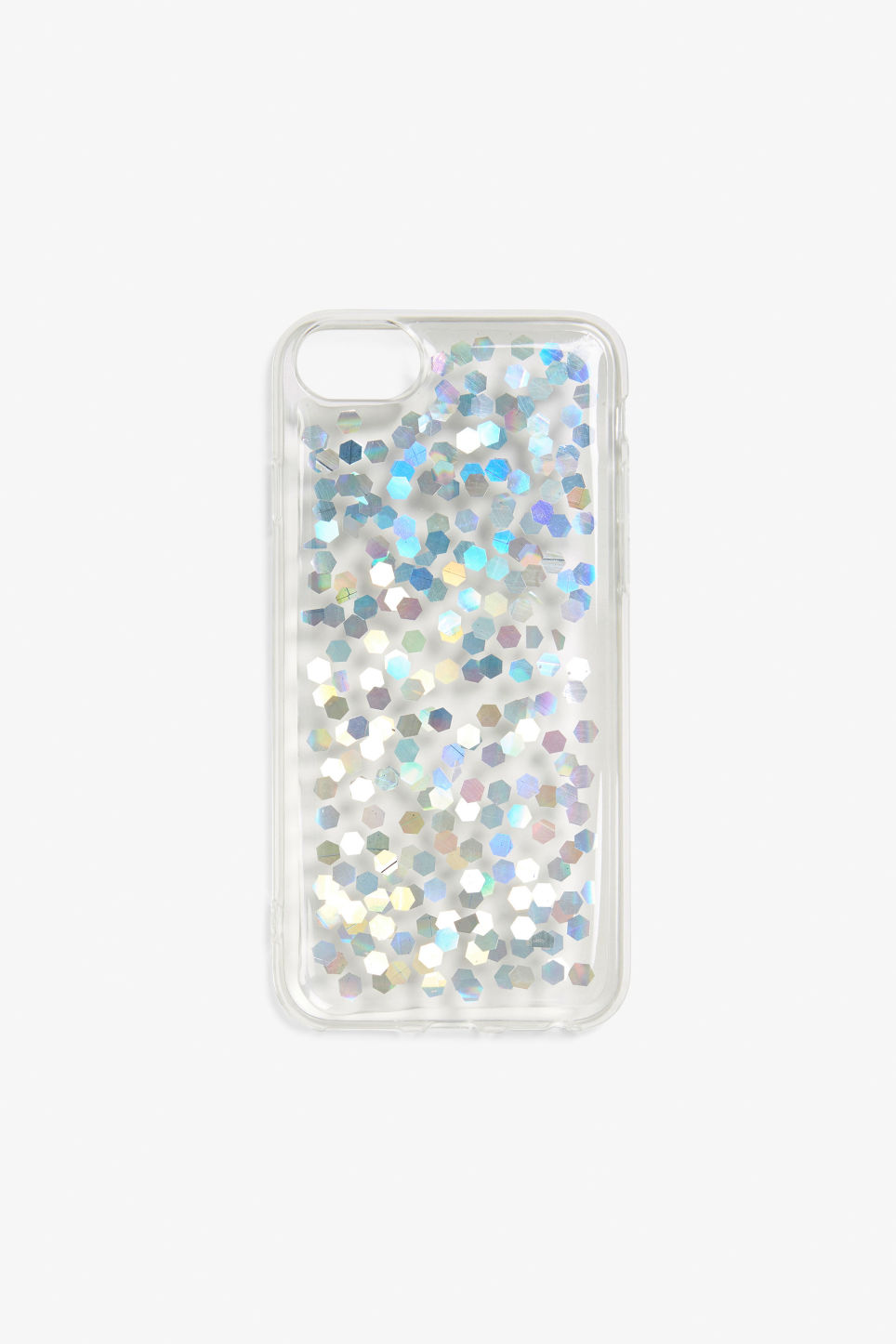 Front image of Monki monki phone case  in white