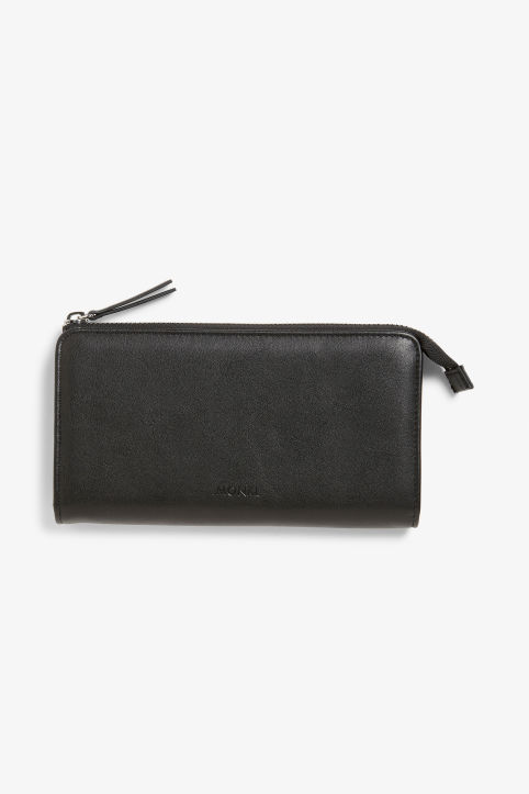 Faux leather zip purse